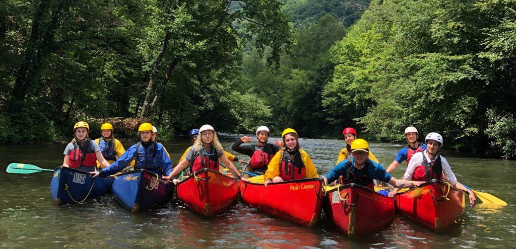 2019 NCOBS crew during paddling segment