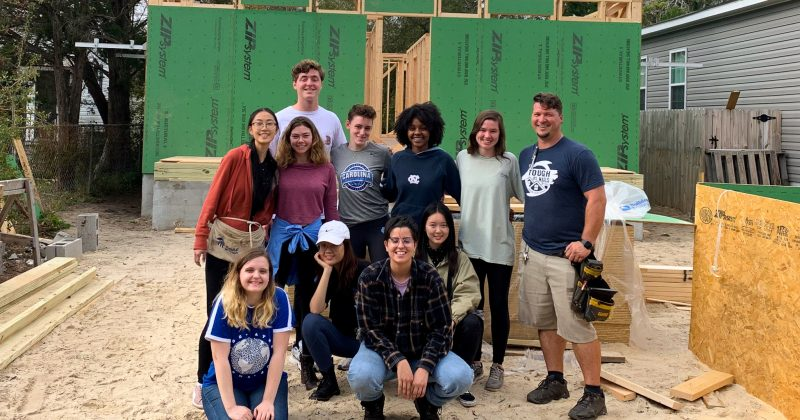 The team of volunteers helped to build a home.